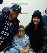 Ciara and Russell Wilson visit children's hospital