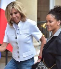Rihanna meets French president Macron to address education goals