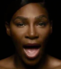 [WATCH] Topless Serena Williams sings to raise breast cancer awareness
