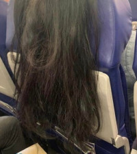 Passenger's hair disturbing another person in plane has everyone talking