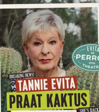 Twice-jabbed Tannie Evita returns to the boards in Darling!