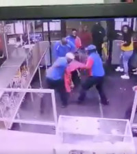 [WATCH] Video of petrol attendants beating up an unruly customer goes viral