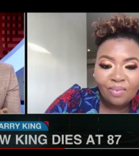 Anele Mdoda and Thembekile Mrototo pay tribute to the late Larry King on eNCA