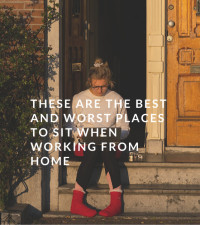 These are the best and worst places to sit when working from home