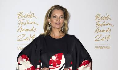 British model Kate Moss immortalised as mannequin-style sculpture