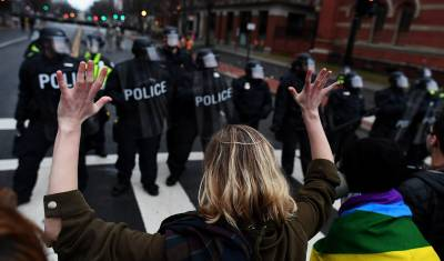 Over 200 arrested at Trump inauguration protests