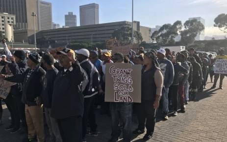 FILE: Kraaifontein residents march to the Western Cape High Court on 20 April 2018 during a protest for low-income housing. Picture: Monique Mortlock/EWN.
