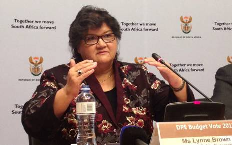 FILE: Public Enterprises Minister Lynne Brown. Picture: Gaye Davis/EWN.