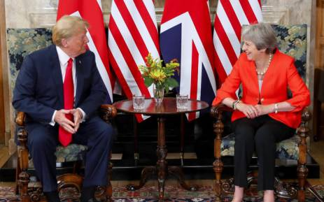 President Donald Trump and Britain's Prime Minister Theresa May. Picture: @10DowningStreet/Twitter.
