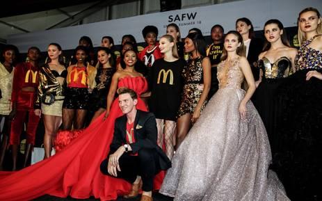 Gert-Johan Coetzee and his models at SA Fashion Week 2018. Picture: Kayleen Morgan/EWN