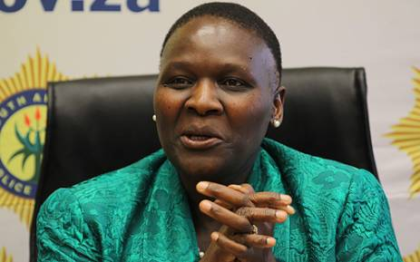 National Police Commissioner Riah Phiyega speaking to the media on 14 June 2012. Picture: Taurai Maduna/EWN