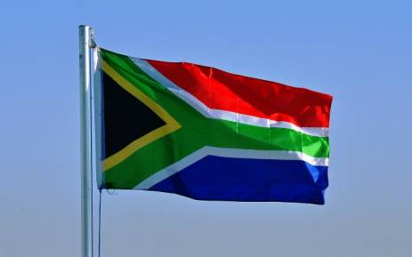 The South African flag. Picture: AFP.