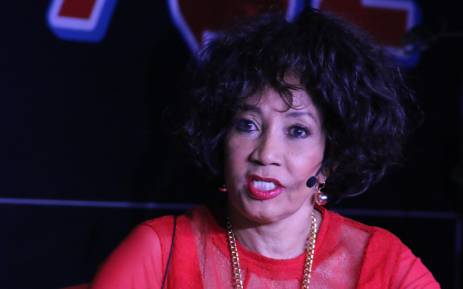 ANC presidential hopeful Lindiwe Sisulu speaks at the Radio 702 Town Hall. Picture: 702