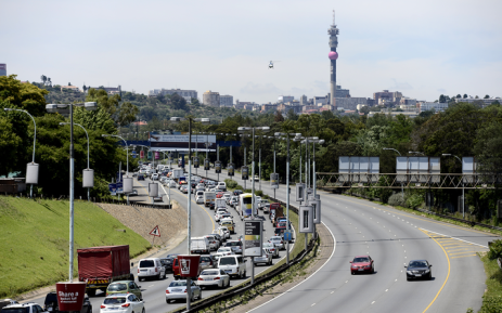 FILE: Heavy traffic in the Johannesburg area.