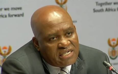 YouTube screengrab of Hawks head Major General Berning Ntlemeza.