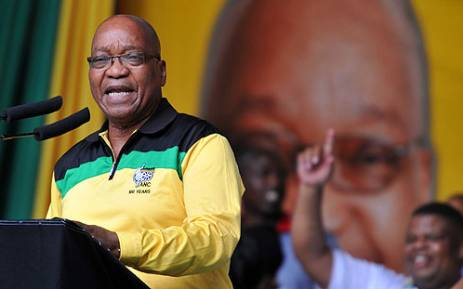 Jacob Zuma delivers the Jan 8 Statement during the ANC's birthday celebrations at Kings Park Stadium, Durban on 12 January 2013. Picture: ANC Pix