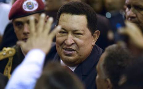 Venezuelan President Hugo Chavez smiles during his proclamation ceremony in Caracas on October 10, 2012. Picture: AFP