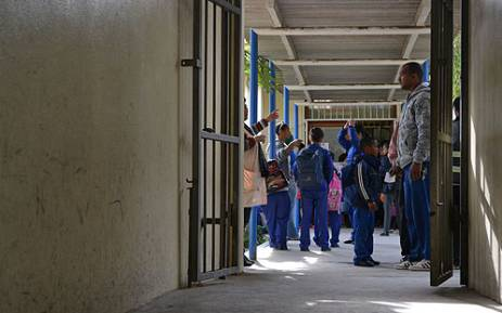 Pupils from St George Primary in Lavender Hill are sent home because of gang violence. Picture: Aletta Gardner/EWN