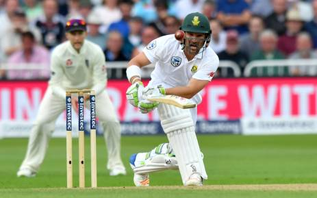 South Africa's Dean Elgar bats on the second day of the second Test match between England and South Africa at Trent Bridge cricket ground in Nottingham, central England on 15 July 2017. Picture: AFP.