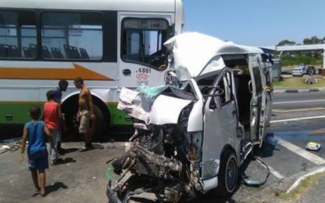 A fatal accident involving a Golden Arrow bus, a BMW and a taxi caused major delays on Stellenbosch Arterial Road last month. Picture: Supplied.