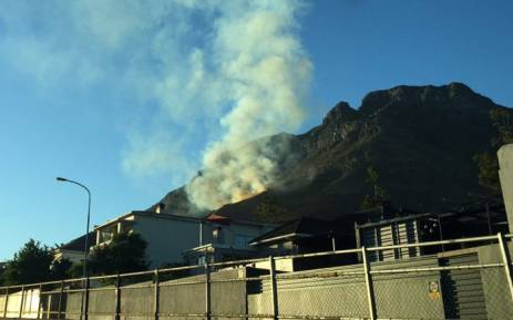 Fire on Table Mountain on 28 February 2015. Picture: Aletta Harrison/EWN.