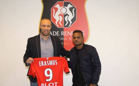 Kermit Erasmus who has played eight matches for his country, has signed a 30 month contract with Rennes. Picture: Twitter @WeAreRennes.