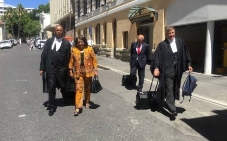 City of Cape Town mayor Patricia de Lille and Advocate Dali Mpofu arriving in the Western Cape Hight Court. Picture: @PatriciaDeLille/Twitter.