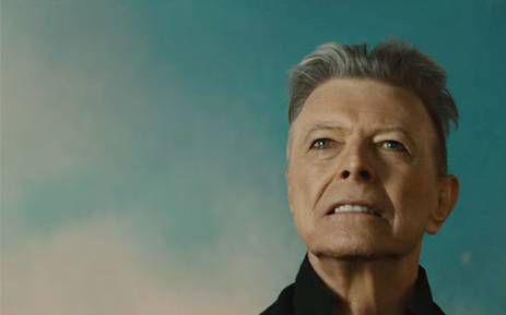 A screengrab of legendary musician David Bowie during his latest music video, 'Blackstar'.