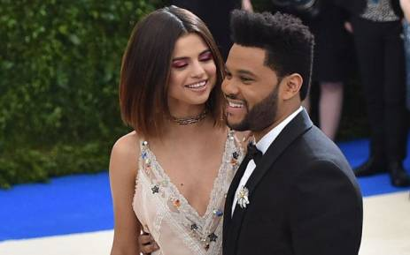 FILE: Selena Gomez with The Weeknd at the Costume Institute Benefit on 1 May 2017 at the Metropolitan Museum of Art in New York. Picture: AFP.