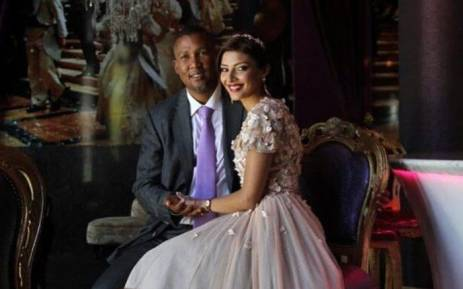 FILE: Mandla Mandela with his new wife, Rabia. Picture: Twitter @mandlamandela.