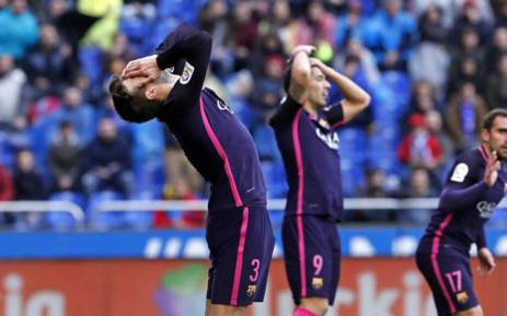 Barcelona FC players disappointed after 2-1 defeat to Deportivo de La Coruña. Picture: @FCBarcelona.