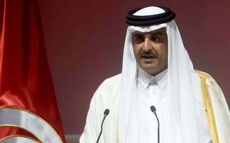 "FILE: The Emir of Qatar, Tamim bin Hamad al-Thani, gives a speech during the opening ceremony of the ""Tunisia 2020"" international investment conference on November 29, 2016 in Tunis. Picture:  AFP."