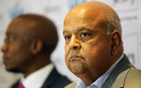 Minister of Cooperative Governance and Traditional Affairs Pravin Gordhan attended a briefing on the state of Johannesburg's water situation on 12 November 2015. Picture: Reinart Toerien/EWN.