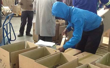 Limpopo Textbooks: Only a few books left in the warehouse. Picture: Andrea van Wyk/EWN.