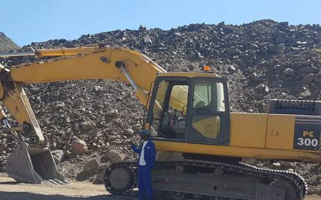 South African Police Service officials confiscated mining equipment after arresting three people over illegal mining. Picture: @SAPoliceService/Twittter.