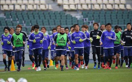 The Japanese football team. Picture: Twitter/@VahidHalil