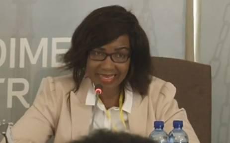 A screengrab of Dr Makgabo Manamela giving testimony at the Life Esidimeni hearings in Johannesburg on 24 November 2017.