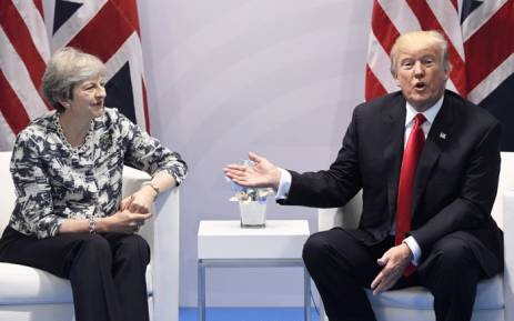FILE: Britain's Prime Minister Theresa May and US President Donald Trump. Picture: AFP