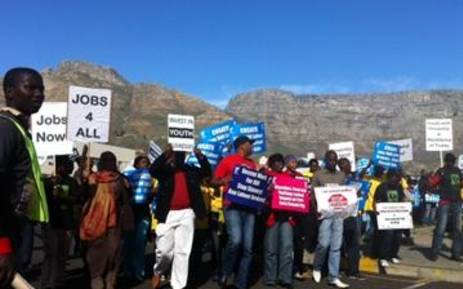 A group of young people took part in a march against unemployment in Cape Town. Picture: EWN