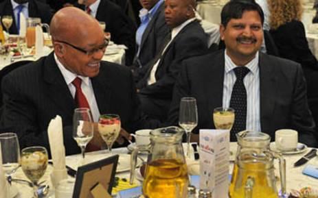FILE: President Jacob Zuma and Atul Gupta. Picture: EWN.