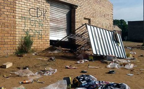 The aftermath of a business which was looted in Soweto on 21 January 2015. Picture: Gia Nicolaides/EWN