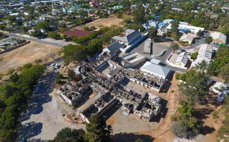 Aerial view of Swartland hospital after a fire swept through the facility on Saturday, 18 March 2017. Picture: Kevin Brandt/EWN
