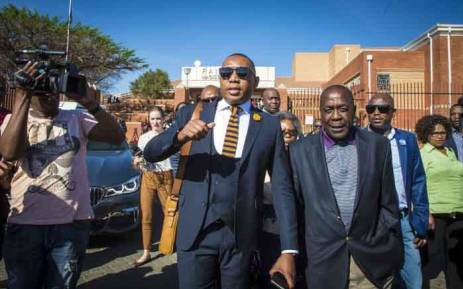 Mduduzi Manana leaves Randburg Magistrates Court on 13 September 2017.  Picture: Thomas Holder/EWN