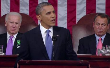 US President Barrack Obama giving his fourth state of the union address. Picture: CNN