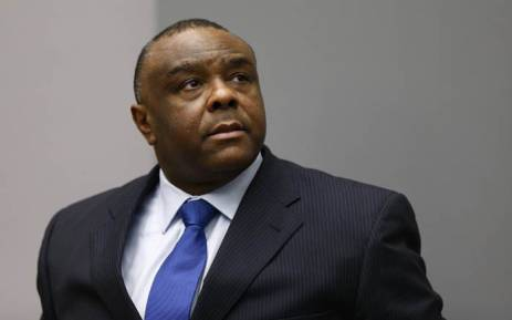 FILE:Former Congolese vice-president Jean-Pierre Bemba sits in the courtroom of the International Criminal Court in The Hague on 21 June 2016. Picture: AFP.