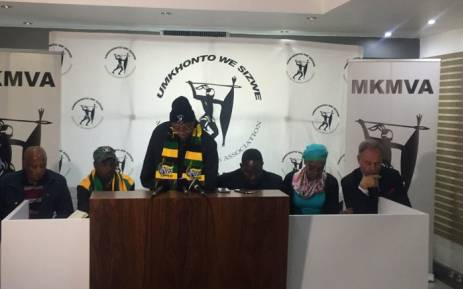 FILE: MKMVA briefs the media following its elective conference in Johannesburg. Picture: Clement Manyathela/EWN.