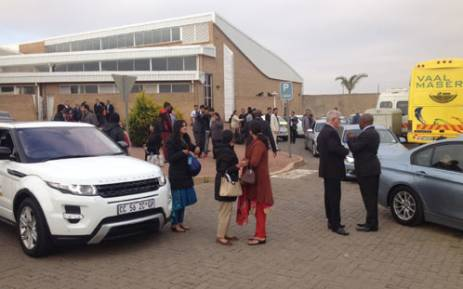 Guests arrive at the Waterkloof Air Force Base for the Gupta wedding. Picture: Barry Bateman/EWN.