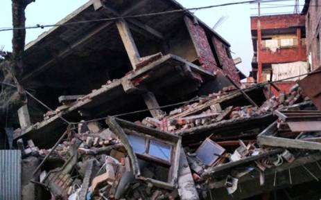 This picture taken from Instagram shows damage from a strong 6.7 magnitude earthquake which struck northeast India near the countrys borders with Myanmar and Bangladesh in the city of Imphal, capital of Manipur state early on 4 January, 2016. Picture: AFP.