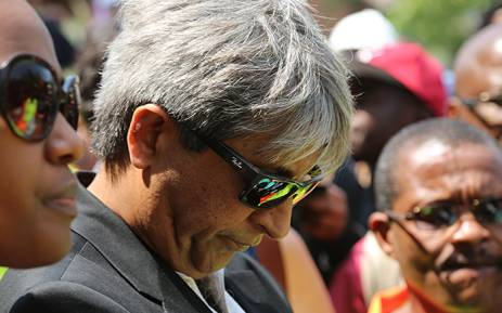 FILE. Wits University vice chancellor Adam Habib looks down during a third day of protests at the institution over proposed tuition fee increases on 16 October 2015. Picture: Reinart Toerien/EWN