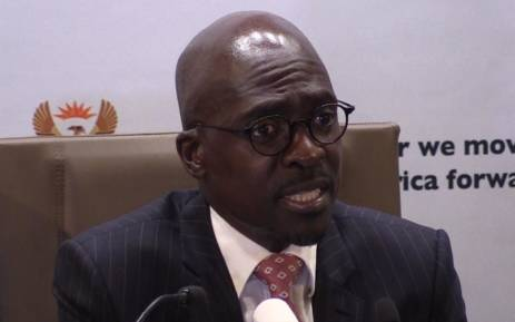 New Finance Minister Malusi Gigaba speaking at his first media briefing  in Pretoria. Picture: Kgothatso Mogale/EWN